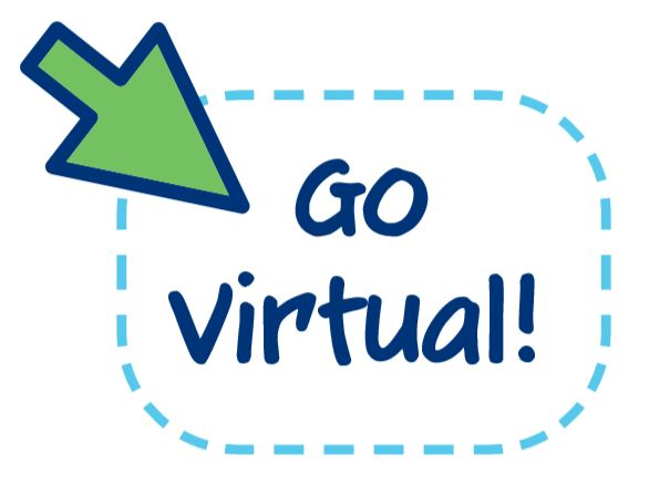 "Icon of mouse over ""go virtual"" text"