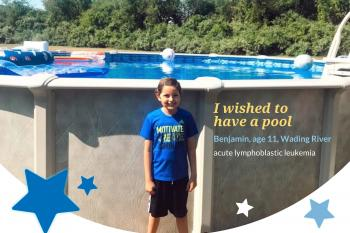 Benjamin's wish to have a pool came true!