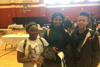 HD Woodson Students at College Fair